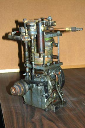 Bill Cartland Briggs and Stratton engine conversion with a VW cylinder for the steam cylinder